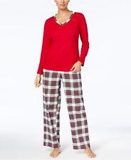 Charter Club Intimates Stewart Plaid Flannel long sleeves pants 2 pc Pajamas  XL 8cc2af7b84c7c