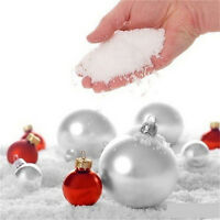 4 packs Fake Magic Instant Snow For Sensory Play Frozen Wedding Xmas Decor HotFO