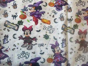 Disney Halloween ,Cotton Fabric Design standard handcrafted pillowcase