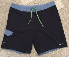 * Nike Mens Size 38 Board Shorts Black Swim Trunks Surf NESS7450-001 $62 Retail