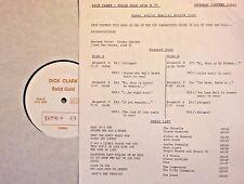 Radio Show: DICK CLARK GOLD #49 BACHARACH/DAVID! SHIRELLES, DIONNE WARWICK, CHER