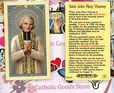 St. Saint John Mary Vianney - Cure of Ars - Laminated Holy Card