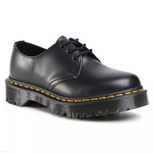 Dr Martens 1461 Bex Black Smooth Leather Lace Up 3 Hole Unisex Shoes