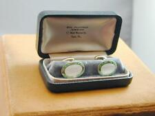 Art Deco Gilt Silver Guilloche Enamel Cuff Links In Box York PA