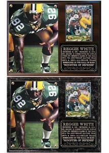 Reggie White #92 Green Bay NFL Photo Card Plaque Packers Hall of Fame Super Bowl