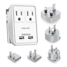 Universal Dual Usb Uk/Au/Eu/Jp/Us Travel Ac Power Charger Adapter Plug Converter