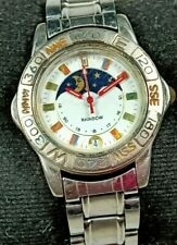 Rainbow Quartz Movement Analog Moon Face Dial Date Wrist Watch