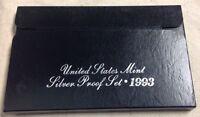 1993 US MINT SILVER PROOF SET - Complete w/ Original Box and COA