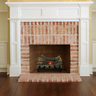 20 in Electric Crackling Log Set Realistic Sound Real Wood Logs& Cast Iron Grate