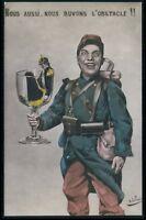 surreal Kaiser drink WWI ww1 war propaganda humor caricature old c1915 postcard