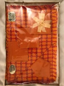 Brand New Vintage Orange Tablemats Spun Woven & Finished in Ireland