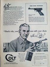 1954 Colt sport model Woodsman long rifle vintage gun ad