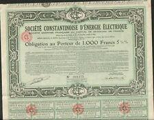 Société Constantine d'Energie Electrique (Bône Constantine ALGÉRIE) (F)