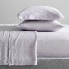 WEST ELM - Belgian Flax Linen Pillowcases - Pale Lilac - BRAND NEW