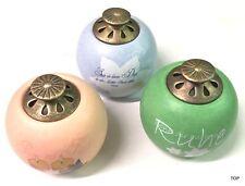 Wellness Teelichthalter mit Spruch Deckel Teelicht Keramik farbig