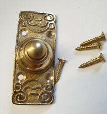 Solid Brass Antique Art Nouveau / Victorian Style Retro Bell Push Door Button