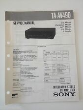 Schema SONY - Service Manual Integrated Stereo AV Amplifier TA-AV490 TAAV490