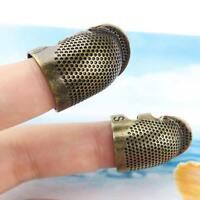 Adjustable Thimble Sewing Quilting Metal Ring Leather Craft Finger Protector S M