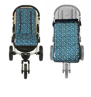 Keep Me Cosy™ Pram Liner +  Footmuff 2 in 1 Set (Toddler) - Playful Plane