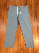 Standard Textile Mens Womens Reversible Teal Nurse Medical Scrub Pants Large VGC