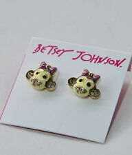 Betsey Johnson B07748-E01 DAY AT THE ZOO Monkey Stud Earrings