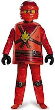 Ninjago Kai Deluxe Boys Lego Costume by Disguise Costumes Child Size 7 - 8