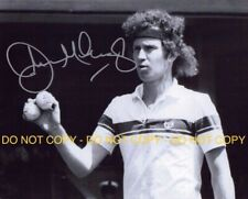 JOHN MCENROE, TENNIS CHAMPION, HAND SIGNED 8X10 PHOTO W/COA