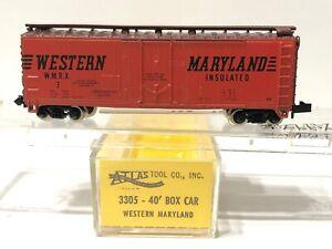 Atlas N Scale 3305 Western Maryland 40' Box Car