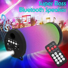 Wireless BT Portable Speaker USB FM Player LEDs Light  Remote Control