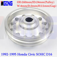 L-Weight Racing Crankshaft Pulley Underdrive For 92-95 Honda Civic SOHC D16 SL