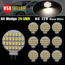 10x Bright Warm White G4 24SMD LED Reading Marine Boat RV landscaping Light Bulb