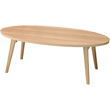 Wooden Folding Table Oval Coffee Center Compact Storage HOT-543NA AZUMAYA NEW