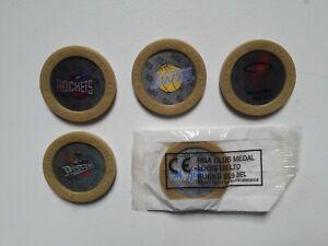 Tazos Pogs Milkcaps Kelloggs NBA Lenticular Slammers x5