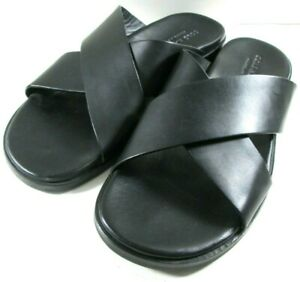 Cole Haan Grand OS Black Leather Slip On Sandals Mens size 12 M NEW Casual Shoes