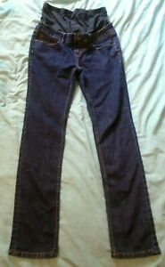 New Mothercare Reform Skinny Maternity Jeans Blue Over The Bump Size 10