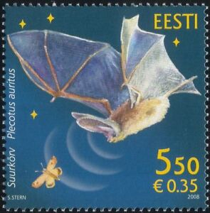 Estonia 2008 Bats/Wildlife/Nature/Insects/Animals/Conservation 1v (n26671)