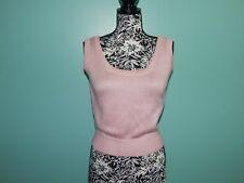 ST.JOHN Vintage Santana Knit Scoop neck TANK shell SWEATER sz 6 USA Rose Pink