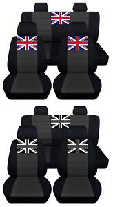Car Seat Covers Mini Cooper 2000-2015 Personalized Design Charcoal ABF