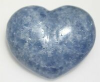 BLUE CALCITE HEART NATURAL POLISHED BLUE CRYSTAL QUALITY