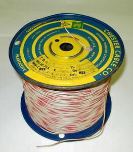 22 AWG Gauge Stranded Wire, 2000 ft. 1000 vdc insulation.