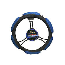 "New Blue Steering Wheel Cover Soft 6 Grip Mesh Universal 14.5""-15.5''"