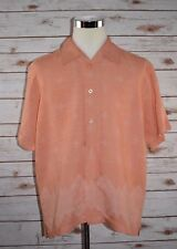 The Havanera Co. Mens Short Sleeve Shirt Size XL / XG Salmon