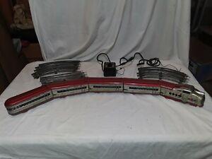 Marx M10005 Union Pacific Tin Train Set Engine, 4 Cars, Track & Transformer.