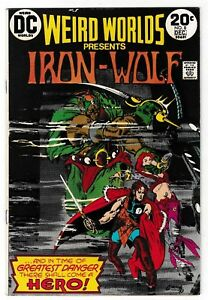 WEIRD WORLDS #8 (FN/VF) 1st IRON WOLF! Howard Chaykin Art & Story! 1973 DC