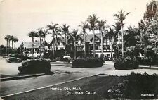 1940s Del Mar California Hotel Del Mar RPPC Real photo postcard 12307