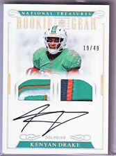Kenyan Drake 2016 National Treasures Rookie Gear 4-Color Patch Auto 19/49
