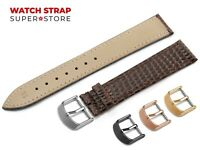 For CARTIER Watch Dark Brown Strap Band Genuine Leather SNAKE Style Buckle Clasp