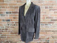 Women's Preston & York Suede Leather Jacket Decorative Stitching Size M