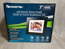 "PanDigital 7"" LED Digital Clock Calendar Photo Frame - Up to 6400 Images - NEW"