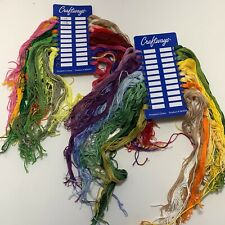 DMC Embroidery Floss Lot of 42 Sorted by Number on Card Red Green Yellow Pink